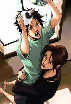 ♡ Itachi helping little Saskue to change a lightbulb. Art by Lily<3