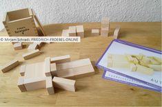 """Bauvorlage """"Auto"""" für Kinder in Kita und Grundschule zum Bauen mit den Fröbelbausteinen (hier die Holzbausteine der Spiegabe 6)"""
