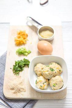 Mini chicken carrot spinach mini meatballs - babyfoode