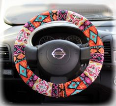 Steering-wheel-cover-wheel-car-accessories-Aztec-Tribal-Steering-Wheel-Cover