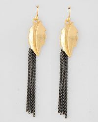 Leaf Dangle Earrings come in gold and silver only $4.50 at rbelleboutique.com