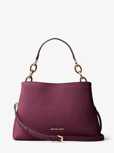 cd2fa02aa6c9 MICHAEL KORS Portia Large Saffiano Leather Shoulder Bag. #michaelkors #bags  #shoulder bags