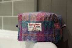 Handmade in Scotland Small Harris Tweed Washbag Toiletry Bag