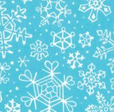 Moda Fabric Sara Khammash Penguins Pals Snowflakes Aqua