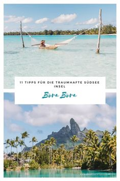 Bora Bora in der Südsee ist das Paradies auf Erden. Türkise Lagunen, Traumstrände, sattgrüne Natur und superleckeres Essen. Hier gebe ich dir meine ganz persönlichen Tipps für deinen Bora Bora Urlaub. Fernweh garantiert! #borabora #südsee #reisetipps Bora Bora, Beautiful Places In The World, Wonderful Places, Good Morning World, Beaches In The World, Best Cities, Travel Agency, Beautiful Islands, Dream Vacations