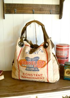 """Hmm...carrying a bag like this I'm sure to have a great """"junkin"""" day....oh the treasures I'd find!"""