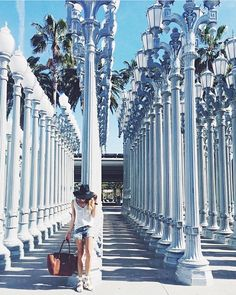 REGRAM @themarcystop in our Tia knit tank at #LACMA's Urban Light installation. #BabesinBBD