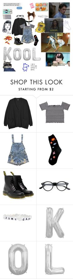 """•school is where kids can rebel•"" by babygiirrl on Polyvore featuring Monki, Foot Traffic and Dr. Martens"