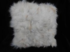 White Fur cabin decor Pillow - possibly mink