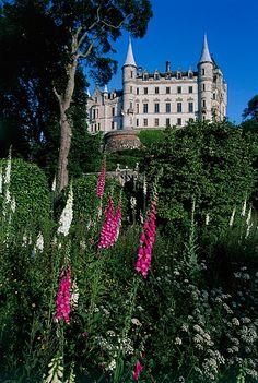 Dunrobin Castle gardens, near Golspie, Sutherland, Scotland.