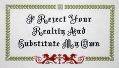 Mythbusters quote cross stitch & pattern