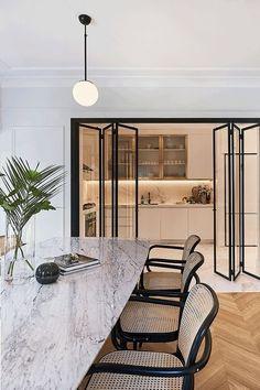 Design Living Room, Dining Room Design, Living Spaces, Kitchen Design, Kitchen Ideas, Elegant Home Decor, Elegant Homes, Modern Interior Design, Interior Architecture