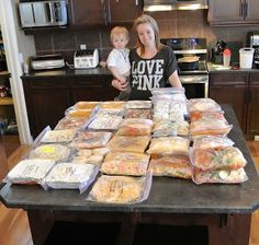 Life's Little Moments: Freezer Cooking for post baby dinners. She has links to all the recipes she used for crock pot meals, one dish meals, soups and casseroles. Also a few baked goods