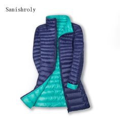 144bd39f6f8 Sanishroly 2018 Double Coat Women White Duck Down Coats Slim Ultra Light Down  Jacket Female Midi