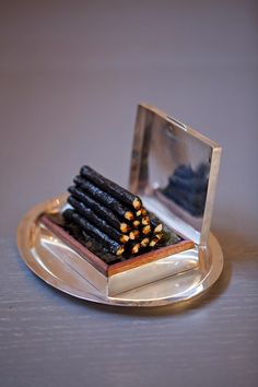 peter callahan : nori chicken cigarettes. what a great and unique idea for event catering (display, presentation food)