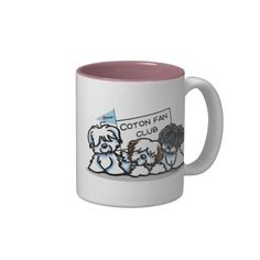 Coton de Tulear Fan Club Cartoon Mug