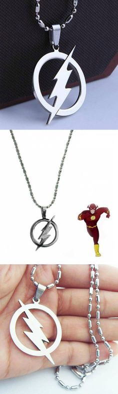 The Flash Logo Stainless Steel Necklace! Click The Image To Buy It Now or Tag Someone You Want To Buy This For.  #TheFlash