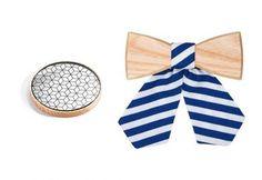 Træ-accessories sæt Liti & Grea håndlavet af BeWooden   BeWooden Danmark Unique Presents, Lady And Gentlemen, Butterfly, Accessories, Women, Beauty, Women's, Bowties, Butterflies