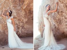 20s wedding. Anna Campbell dress. Photog: Three Nails Photography. Model: Cherish Roberts. MUAH: Meka with Motives