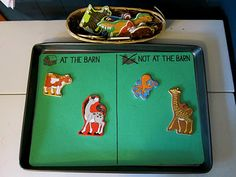 farm unit  sorting with magnet animals  --if I can't find these animal magnets at school, i'll use boardmaker pictures.
