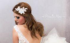 Haarschmuck & Kopfputz - Headpiece Spitze Braut Haarschmuck Strass Schmuck - ein Designerstück von Princess_Mimi bei DaWanda