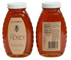 Our Classic Honey Jars one of the best sellers! We switched to brown kraft paper and its increase sales big time. Honey Jar Labels, Honey Label, Honey Jars, Colored Labels, Online Labels, Local Honey, Label Paper, Label Templates, Raw Honey