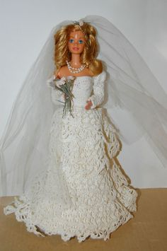 Barbie Wedding Doll. Hand Made Gown. Beautiful.