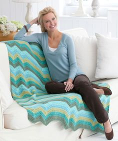 Hills & Plateaus Throw Crochet Pattern  <3 <3 <3 the fresh color combo!