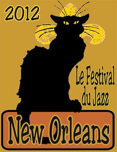 Le Chat Noir Jazz Fest 2012 Painting  - Le Chat Noir Jazz Fest 2012 Fine Art Print