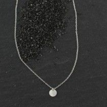 Tiny Dot necklace in sterling silver, everyday essential