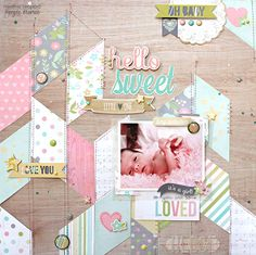 Sweet Little One - Scrapbook.com - Made with Hello Baby