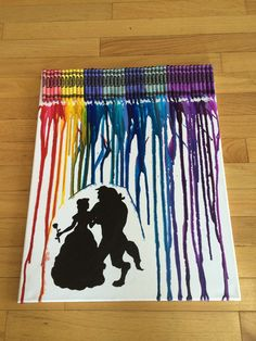 Beauty and the Beast Crayon Art