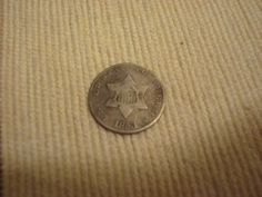 1853 3 cent silver coin by DrewsCollectibles on Etsy, $32.00
