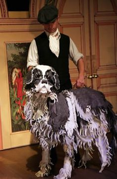 Nana. I love the idea of a shaggy dog. Maybe we could incorporate this fringe look into the costume.