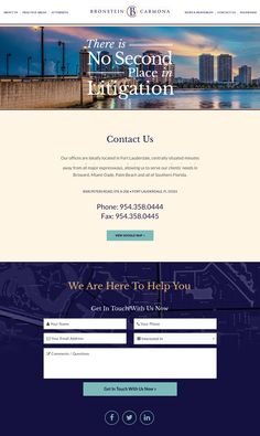 Law firm contact page by PaperStreet