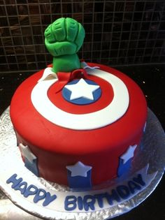 Avengers Birthday Cake By jenibradley on CakeCentral.com