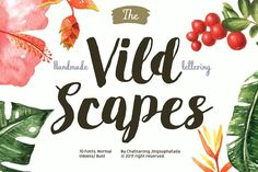 Vild Scapes by Typesketchbook Foundry on @creativemarket