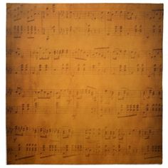 Old vintage sheet music napkin