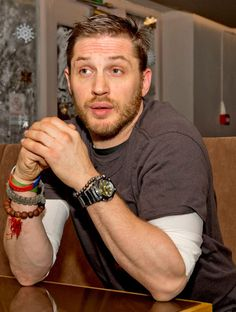 Tom looking freaking adorable...also, forearms ;)