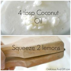 Lemon and Coconut Oil Moisturizer - Delicious And DIY
