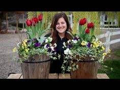 Spring Arrangement with Tulips // Garden Answer - YouTube