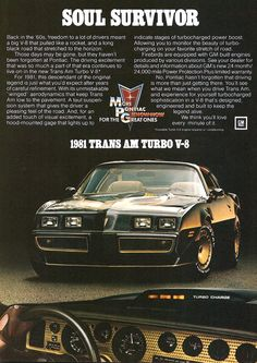 1981 TURBO Trans Am. As a 17 year old, I wanted one SO BAD!!!