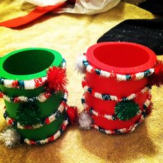 Homemade coozies for ugly sweater party
