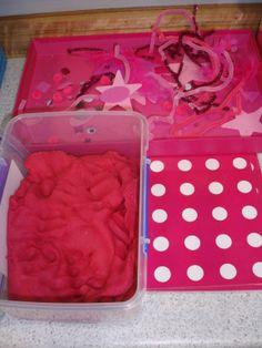 Play Dough Pink Play Dough Sensory Letter p