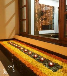 12 Types of Flower Rangoli Designs for different areas Rangoli Designs Flower, Colorful Rangoli Designs, Rangoli Designs Diwali, Rangoli Designs Images, Diwali Rangoli, Rangoli Ideas, Indian Rangoli, Diwali Decoration Lights, Diwali Decorations At Home
