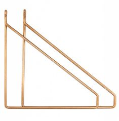 This on-trend Set of 2 Brass Shelf Brackets by House Doctor would look great with our white and green marble shelves. The set would be a stylish addition to many modern homes, especially in a living room, hallway, bedroom or office. House Doctor, Brass Shelf Brackets, Etagere Design, Marble Shelf, Unique Shelves, Small Shelves, Deco Retro, Pergola Pictures, Woodworking