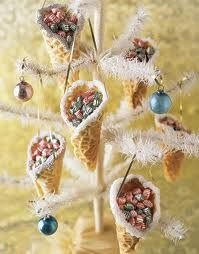 Peppermints in cones display