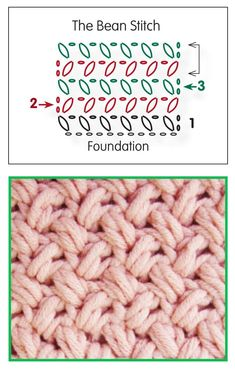 Learn how to crochet the bean stitch for a fun new way to have a basketweave effect!