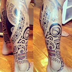 Cool Mens Leg #Tattoo With Awesome Design