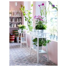 Buy IKEA LANTLIV Plant Stand in White colour. A plant stand makes it possible to decorate with plants everywhere in the home. Patio Ikea, Ikea Patio Furniture, Ikea Plants, Cool Plants, Plants For Sale, Inside Plants, Indoor Garden, Indoor Plants, Ikea Inspiration
